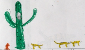 cacti and animals