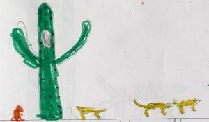 cacti and animals