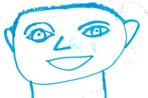 six-year-old self-portrait